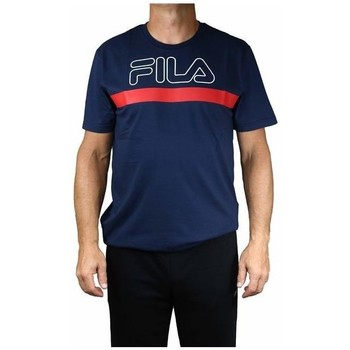 Clothing Men Short-sleeved t-shirts Fila Men Laurentin Tee Red, Navy blue