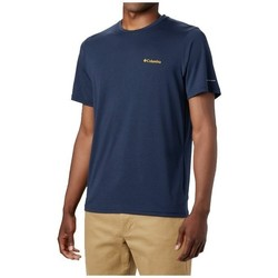Clothing Men Short-sleeved t-shirts Columbia Maxtrail SS Logo Tee Navy blue