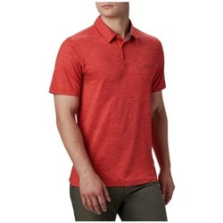 Clothing Men Short-sleeved polo shirts Columbia Tech Trail Polo Shirt Red