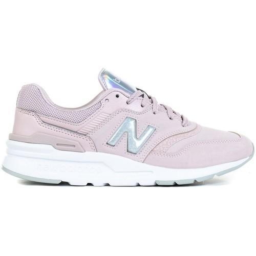 Shoes Women Low top trainers New Balance 997 White, Silver, Pink