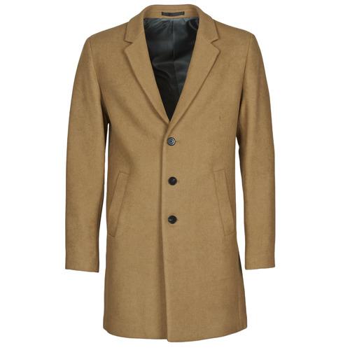 Clothing Men Coats Jack & Jones JJEMOULDER Camel