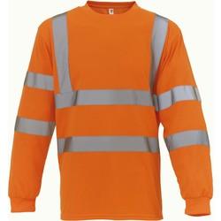 Clothing Long sleeved tee-shirts Yoko T-Shirt manches longues  Haute Visibilité orange