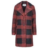 Clothing Women Coats Only ONLVICKI Red / Black