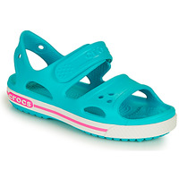 Shoes Girl Sandals Crocs CROCBAND II SANDAL PS Blue / Pink