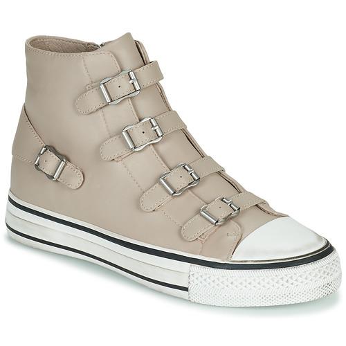 Shoes Women Hi top trainers Ash VIRGIN Beige