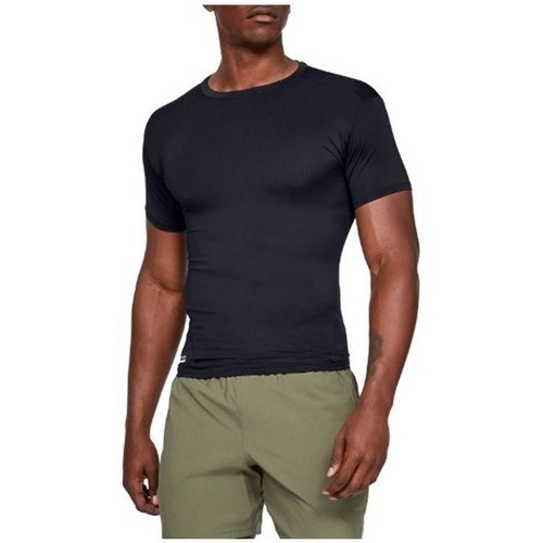 Clothing Men Short-sleeved t-shirts Under Armour HG Tactical Compression Tee Black