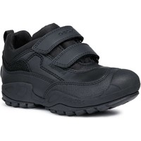 Shoes Boy Low top trainers Geox J841VB J New Savage Boy B A Black