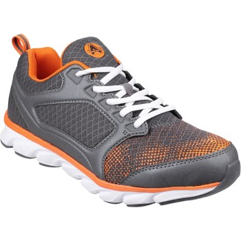 Shoes Men Low top trainers Amblers Safety AS707 Kyanite Grey and Orange