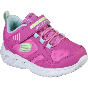 Shoes Girl Fitness / Training Skechers 302092NPKMT21 S Lights Magna-Lights Expert Level Pink and Multi