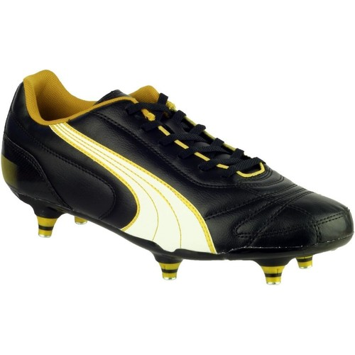 Shoes Football shoes Puma KRATERO SCREW-IN Black and White and Gold