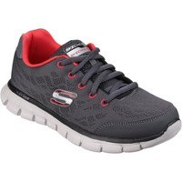 Shoes Boy Running shoes Skechers 95513L Synergy Fine Tune Grey and Red