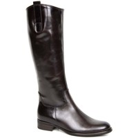 Shoes Women High boots Gabor Brook M Womens Medium Calf Fitting Long Boots brown