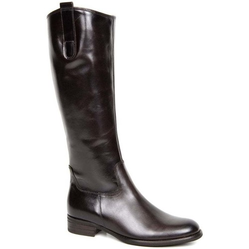 Shoes Women High boots Gabor Brook M Womens Medium Calf Fitting Long Boots brown