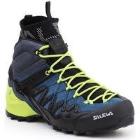 Shoes Men Walking shoes Salewa MS Wildfire Edge Mid Gtx Celadon,Black,Blue