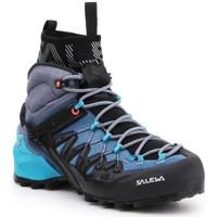 Shoes Women Walking shoes Salewa WS Wildfire Edge Mid Gtx Black,Blue,Graphite