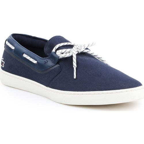 Shoes Men Low top trainers Lacoste Gazon Deck 116 7-31CAM0005003 navy , white