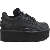 Shoes Women Low top trainers Buffalo Chaussures femme Buffalo basses Risking Towers cuir noir
