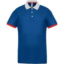 Clothing Men Short-sleeved polo shirts Proact Polo piqué  Performance gris chiné