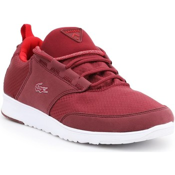 Shoes Women Low top trainers Lacoste Light-01 COM 7-28SPW1090DR5 burgundy