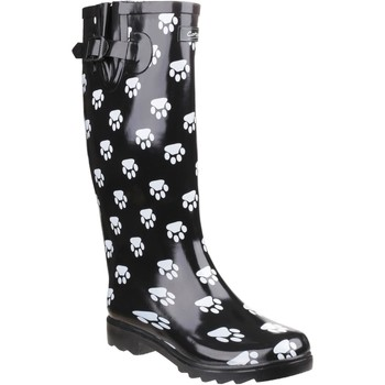 Shoes Women Wellington boots Cotswold Dog Paw Black and White