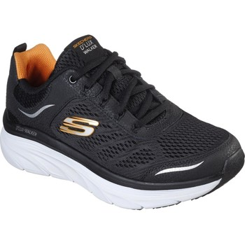 Shoes Men Low top trainers Skechers 232044BKW6 D'Lux Walker Black and White