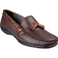 Shoes Women Loafers Cotswold Biddlestone Brown and Gold