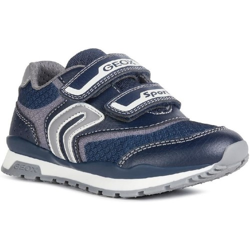 Shoes Boy Low top trainers Geox J9215A-014BU-C0661 J Pavel A Navy and Grey