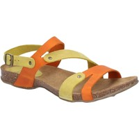 Shoes Women Sandals Riva Di Mare 821-ORG/YEL-35 Debs Orange and Yellow
