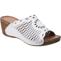 Shoes Women Mules Riva Di Mare Reggio Leather White