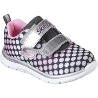 Shoes Children Fitness / Training Skechers 82064N Skech-Lite Lil' Dots Grey and Pink