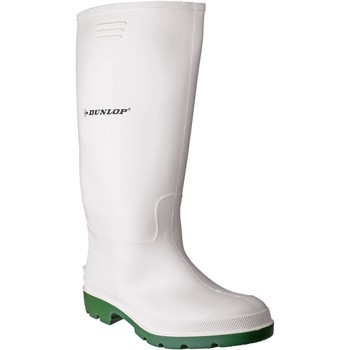 Shoes Men Wellington boots Dunlop Pricemastor White and Green