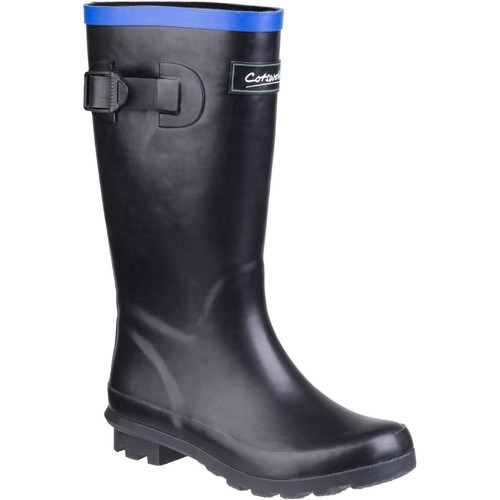 Shoes Boy Wellington boots Cotswold Fairweather Black and Blue
