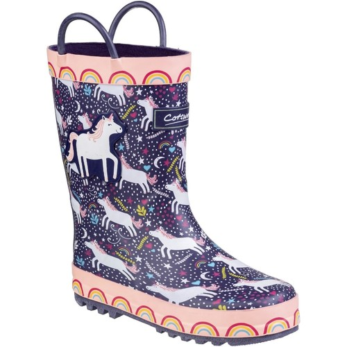 Shoes Boy Wellington boots Cotswold Sprinkle Purple and Pink & White