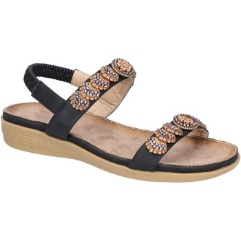 Shoes Women Sandals Fleet & Foster 6K1906-1-BLK-36 Java Black