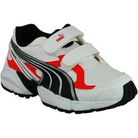 Shoes Boy Low top trainers Puma Axis 2 Junior White and Vaporous Grey