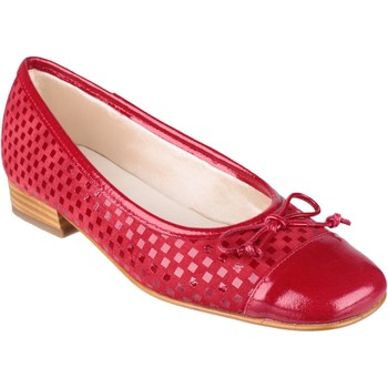 Shoes Women Flat shoes Riva Di Mare Andros Suede/Patent Shoes Red