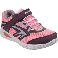 Shoes Girl Low top trainers Hi-Tec O005525/090 Thunder Plum and Blossom and Elderberry