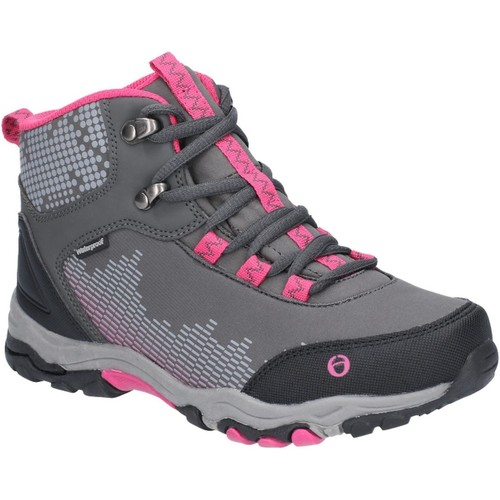 Shoes Boy Walking shoes Cotswold JH-CH77148A-GRYPIN-33 Ducklington Lace Grey and Pink