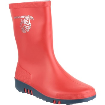 Shoes Boy Wellington boots Dunlop Mini Red and Bl