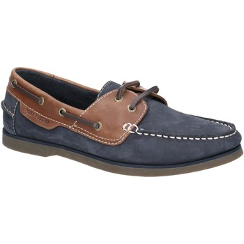 Shoes Men Boat shoes Hush puppies HPM2000-11-6 Henry Blue and Tan