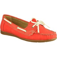 Shoes Boat shoes Divaz Belgravia Red