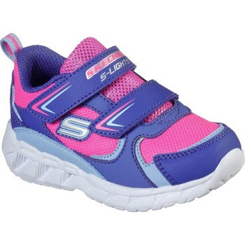 Shoes Girl Fitness / Training Skechers 302093NPRHP21 S Lights Magna-Lights Goal Achiever Purple and Hot Pink