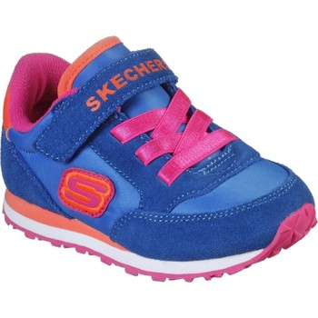Shoes Girl Fitness / Training Skechers 82256NBLOR21 Retro Sneaks Blue and Orange