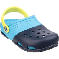 Shoes Children Clogs Crocs Electro II Clog Navy and Electric Blue