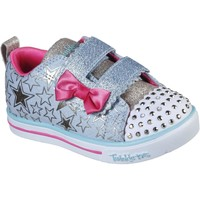 Shoes Girl Low top trainers Skechers 314037NLBMT21 Sparkle Lite Stars So Bright Light Blue and Multi