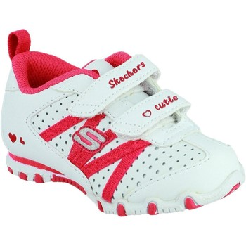 Shoes Girl Low top trainers Skechers SK82688N Bikers Main Squeeze White and Red