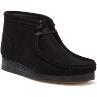Shoes Men Mid boots Clarks Wallabee Suede Mens Black Boots Black