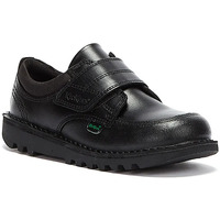 Shoes Children Loafers Kickers Toddlers Black Leather Scuff Lo Shoes Black