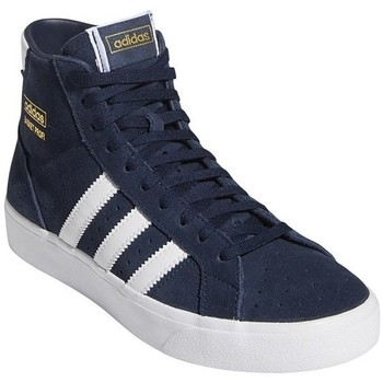 Shoes Children Hi top trainers adidas Originals Basket Profi J White,Navy blue