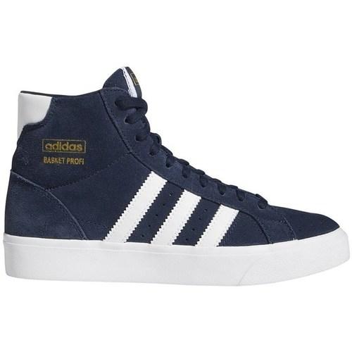 Shoes Children Hi top trainers adidas Originals Basket Profi J White, Navy blue